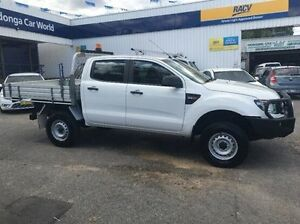 2012 Ford Ranger PX XL Double Cab White 6 Speed Sports Automatic Cab Chassis Wodonga Wodonga Area Preview