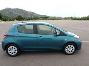 2014 Toyota Yaris NCP131R YRS Green 4 Speed Automatic Hatchback Hyde Park Townsville City Preview