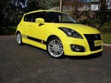 2012 Suzuki Swift FZ Sport Yellow 6 Speed Manual Hatchback St Marys Mitcham Area Preview