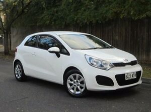 2012 Kia Rio UB MY12 S White 6 Speed Manual Hatchback Thorngate Prospect Area Preview
