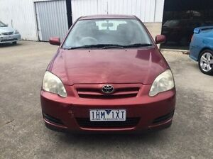 2007 Toyota Corolla ZZE122R 5Y Ascent Red 4 Speed Automatic Hatchback Maidstone Maribyrnong Area Preview