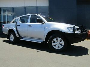 2011 Mitsubishi Triton MN MY11 GL-R Double Cab Silver 5 Speed Manual Utility Earlville Cairns City Preview