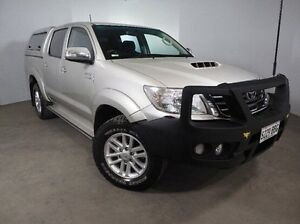 2013 Toyota Hilux KUN26R MY14 SR5 Double Cab Silver 5 Speed Automatic Utility Mount Gambier Grant Area Preview