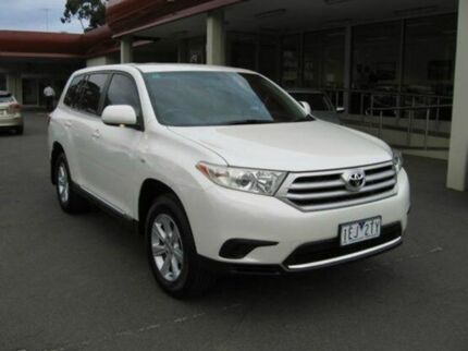 2012 Toyota Kluger GSU45R MY12 KX-R AWD Crystal Pearl 5 Speed Auto Seq Sportshift Wagon Berwick Casey Area Preview