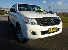 2013 Toyota Hilux KUN26R MY12 Workmate Double Cab White 5 Speed Manual Utility Singleton Singleton Area Preview