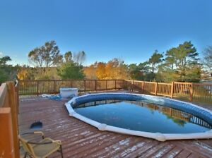 20 ft diameter above ground pool, pump and sand filter