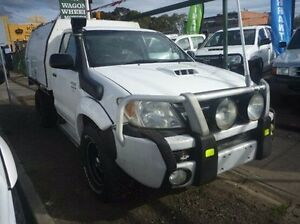 2008 Toyota Hilux White Manual Cab Chassis Fawkner Moreland Area Preview
