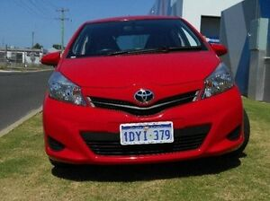 2012 Toyota Yaris NCP130R YR Red 5 Speed Manual Hatchback Bunbury Bunbury Area Preview