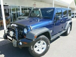 2012 Jeep Wrangler JK MY2012 Unlimited Sport Blue 5 Speed Automatic Softtop Coffs Harbour Coffs Harbour City Preview