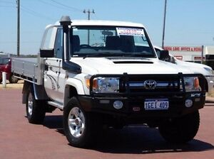 2012 Toyota Landcruiser VDJ79R MY10 GXL White 5 Speed Manual Cab Chassis Spearwood Cockburn Area Preview