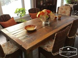HARVEST TABLES, Made With Century Old, Northern Ont. Barnboard