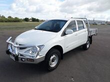2008 Ssangyong Actyon Sports  White Manual Utility Hyde Park Townsville City Preview