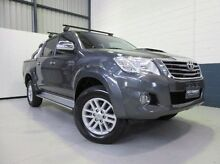 2013 Toyota Hilux KUN26R MY12 SR5 Double Cab Grey 5 Speed Manual Utility Blair Athol Port Adelaide Area Preview
