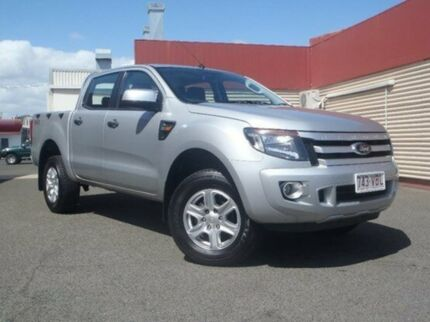 2014 Ford Ranger PX XLS Double Cab Silver 6 Speed Manual Utility Gladstone Gladstone City Preview