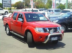2010 Nissan Navara D40 Series 4 ST-X (4x4) Red 5 Speed Automatic Dual Cab Pick-up Ringwood East Maroondah Area Preview