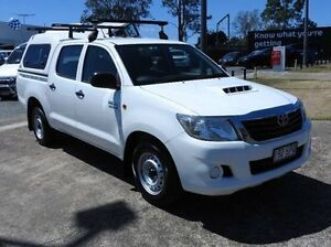 2012 Toyota Hilux KUN16R MY12 SR Double Cab White 5 Speed Manual Utility Morningside Brisbane South East Preview