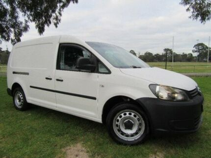 2013 Volkswagen Caddy 2KN MY13 TDI250 Maxi DSG White 7 Speed Sports Automatic Dual Clutch Van Doveton Casey Area Preview