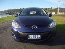2013 Mazda 2 DE10Y2 MY14 Neo Sport Blue 5 Speed Manual Hatchback Invermay Launceston Area Preview