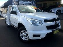 2013 Holden Colorado RG MY13 DX White 5 Speed Manual Cab Chassis Taminda Tamworth City Preview