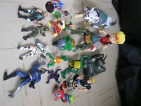 lot of boys action figure toys.