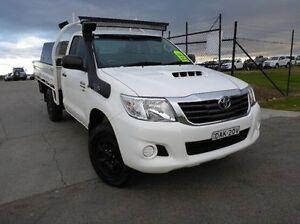 2012 Toyota Hilux KUN26R MY12 SR White 5 Speed Manual Cab Chassis Singleton Singleton Area Preview