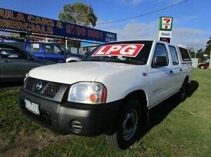 2002 Nissan Navara D22 MY2002 DX White 5 Speed Manual Utility Carrum Downs Frankston Area Preview