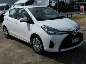 2015 Toyota Yaris NCP130R Ascent White 4 Speed Automatic Hatchback Wynnum Brisbane South East Preview
