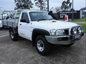 2012 Nissan Patrol Y61 GU 6 SII MY13 DX White 5 Speed Manual Cab Chassis Morningside Brisbane South East Preview
