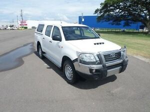 2014 Toyota Hilux KUN26R MY14 SR Double Cab White 5 Speed Manual Utility Hyde Park Townsville City Preview