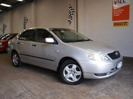 2003 Toyota Corolla ZZE122R Ascent Silver 4 Speed Automatic Sedan Highett Bayside Area Preview