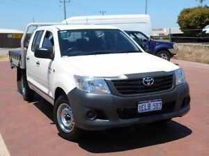 2014 Toyota Hilux TGN16R MY14 Workmate Double Cab White 4 Speed Automatic Utility Spearwood Cockburn Area Preview
