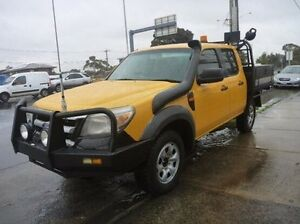 2011 Ford Ranger PK XL Crew Cab Yellow 5 Speed Automatic Cab Chassis Fawkner Moreland Area Preview