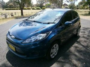 2012 Ford Fiesta WT CL PwrShift Blue 6 Speed Sports Automatic Dual Clutch Hatchback Mitchell Bathurst City Preview