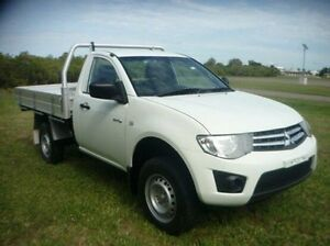 2012 Mitsubishi Triton MN MY12 GLX White 4 Speed Automatic Cab Chassis Townsville Townsville City Preview