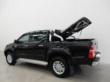2014 Toyota Hilux KUN26R MY14 SR5 Double Cab Black 5 Speed Automatic Utility Braeside Kingston Area Preview