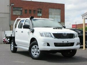 2013 Toyota Hilux KUN26R MY12 SR Double Cab White 5 Speed Manual Cab Chassis Preston Darebin Area Preview