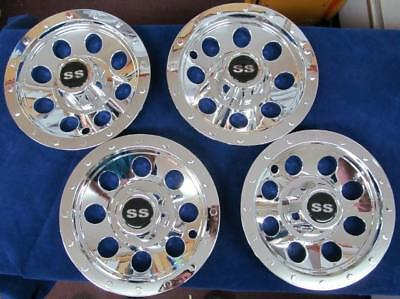 Trailer Tow Truck Dolly Ss Hub Cap 8 Inch 4 Set Bead Lock Wheel Style Hcsst