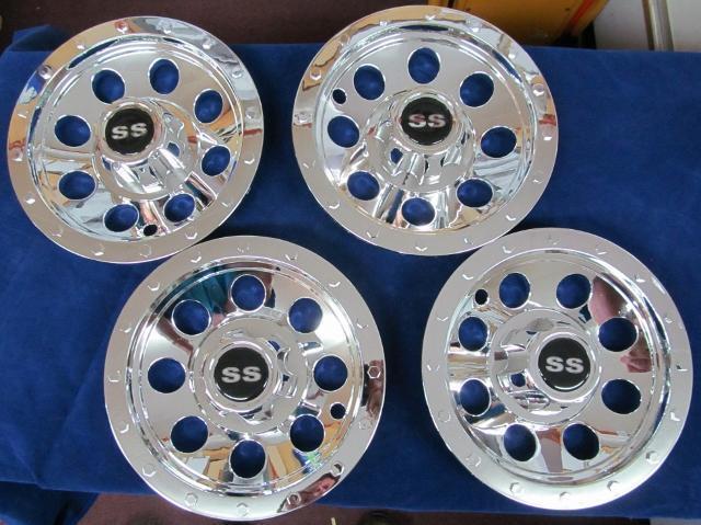 Trailer & Tow Truck Dolly SS Hub Cap 8 Inch 4 set Bead Lock Wheel Style# HCSST