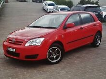 2006 Toyota Corolla ZZE122R 5Y Ascent Red 4 Speed Automatic Hatchback Windsor Hawkesbury Area Preview