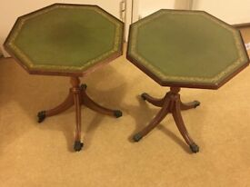 Pair of Shaw of London glass topped tables