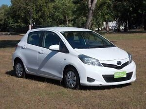 2012 Toyota Yaris NCP130R YR White 4 Speed Automatic Hatchback Winnellie Darwin City Preview