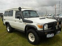 2008 Toyota Landcruiser VDJ78R Workmate Troopcarrier White 5 Speed Manual Wagon Pakenham Cardinia Area Preview