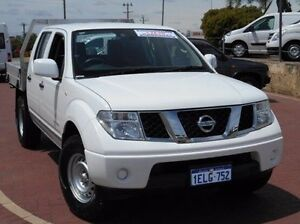 2013 Nissan Navara D40 S7 MY12 RX White 6 Speed Manual Cab Chassis Spearwood Cockburn Area Preview