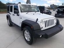 2015 Jeep Wrangler JK MY2016 Unlimited Sport White 5 Speed Automatic Softtop Mitchell Bathurst City Preview