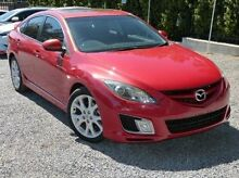 2008 Mazda 6 GH1051 Luxury Sports Red 6 Speed Manual Hatchback Paradise Campbelltown Area Preview