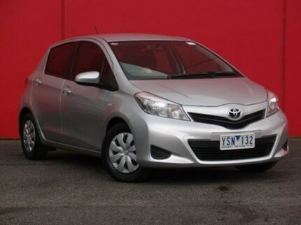 2011 Toyota Yaris NCP90R MY11 YR Silver Pearl 4 Speed Automatic Hatchback Southbank Melbourne City Preview