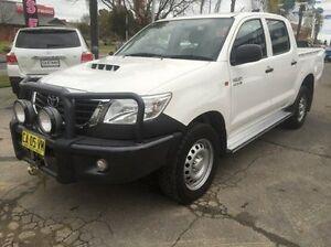 2014 Toyota Hilux KUN26R MY14 SR Double Cab White 5 Speed Automatic Utility Wodonga Wodonga Area Preview