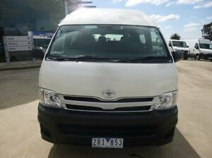 2013 Toyota Hiace TRH223R MY12 Commuter High Roof Super LWB White 4 Speed Automatic Bus Coburg North Moreland Area Preview