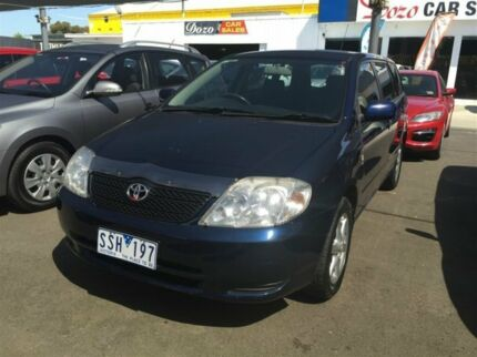 2004 Toyota Corolla ZZE122R Conquest Blue 4 Speed Automatic Wagon Maidstone Maribyrnong Area Preview
