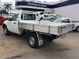 2014 Mitsubishi Triton White Manual Cab Chassis Wodonga Wodonga Area Preview